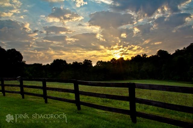 Sunrise in the country town of Aroda, VA.
