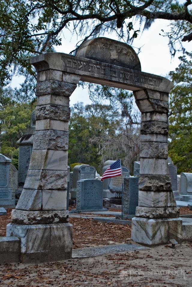 Jewish section of Bonaventure Cemetery in Savannah, GA