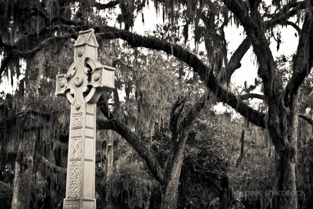 celtic cross gravestone Bonaventure cemetery Savannah, GA