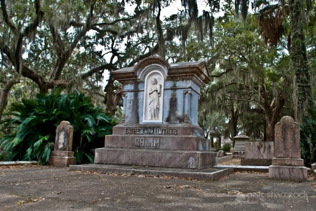 Grimm family grave marker Bonaventure Cemetery Savannah, GA
