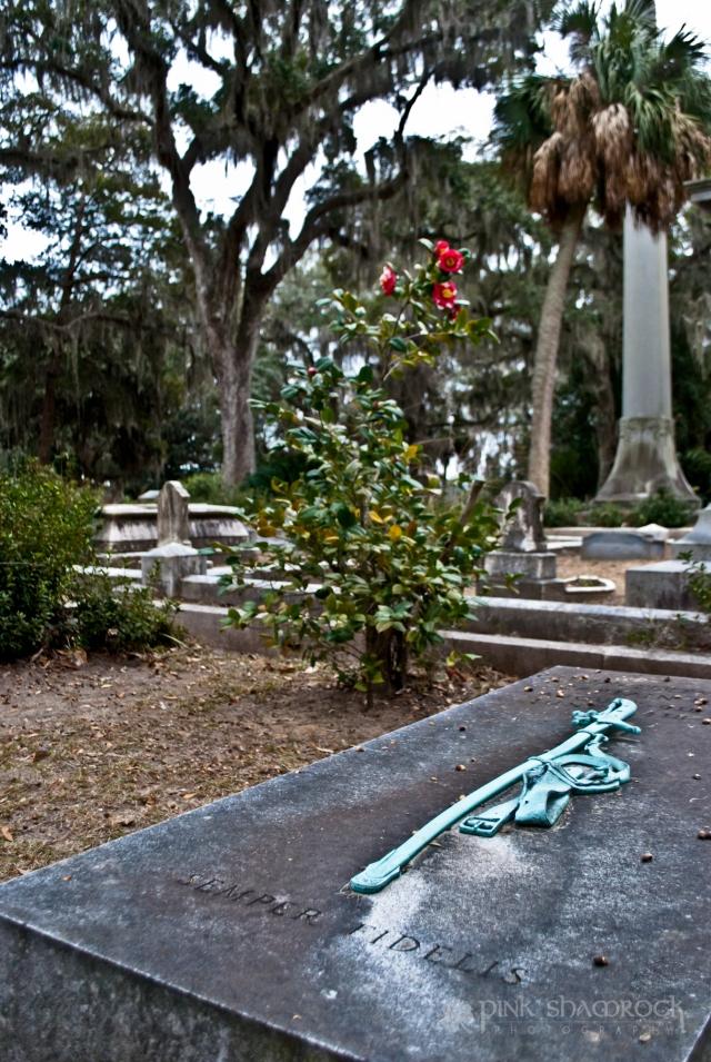 Semper Fidelis grave marine corps Bonaventure Cemetery Savannah, GA