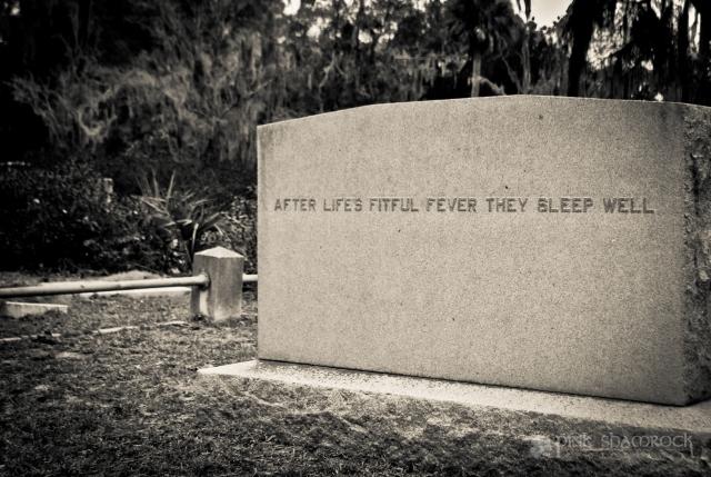 headstone in Bonaventure Cemetery, Savannah, GA