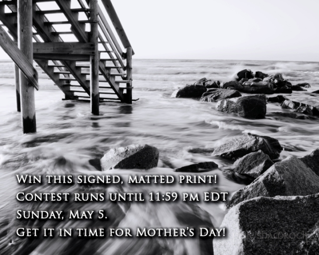 Win this signed and matted print in time to give to Mom for Mother's Day!