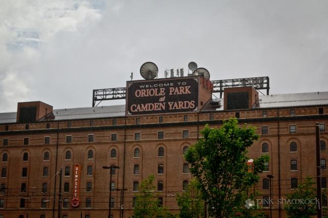 """Rain, Rain Go Away"" - Rain falls at Oriole Park at Camden Yards in Baltimore, Maryland."