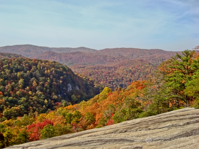 """Foliage Overlook"" - Fall foliage in Table Rock State Park, SC."