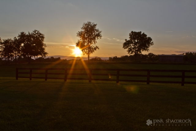 """Wonder of a Sunset"" - Sunset in rural Madison County, Virginia."