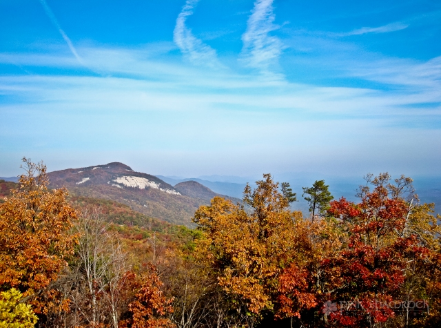 Fall foliage at Table Rock State Park in South Carolina
