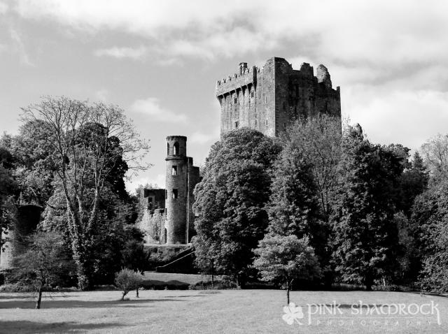 """Blarney in Black and White"" - Blarney Castle in County Cork, Ireland."